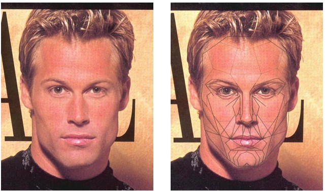 The Male European (Caucasian) Face and the Male Variant from the Archetypal Mask