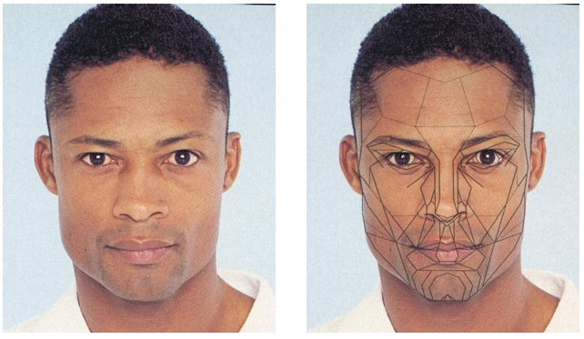 The Male African Face and the Male Variant from the Archetypal Mask