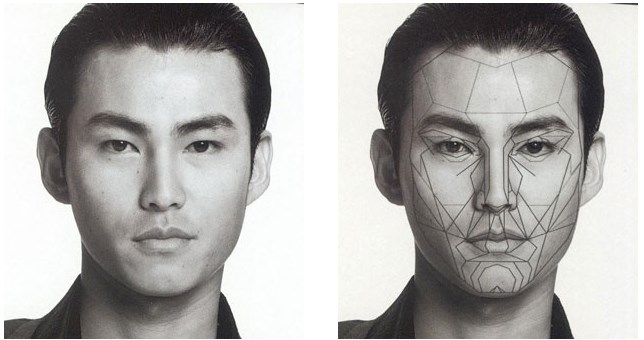 The Male Asian Face and the Male Variant from the Archetypal Mask